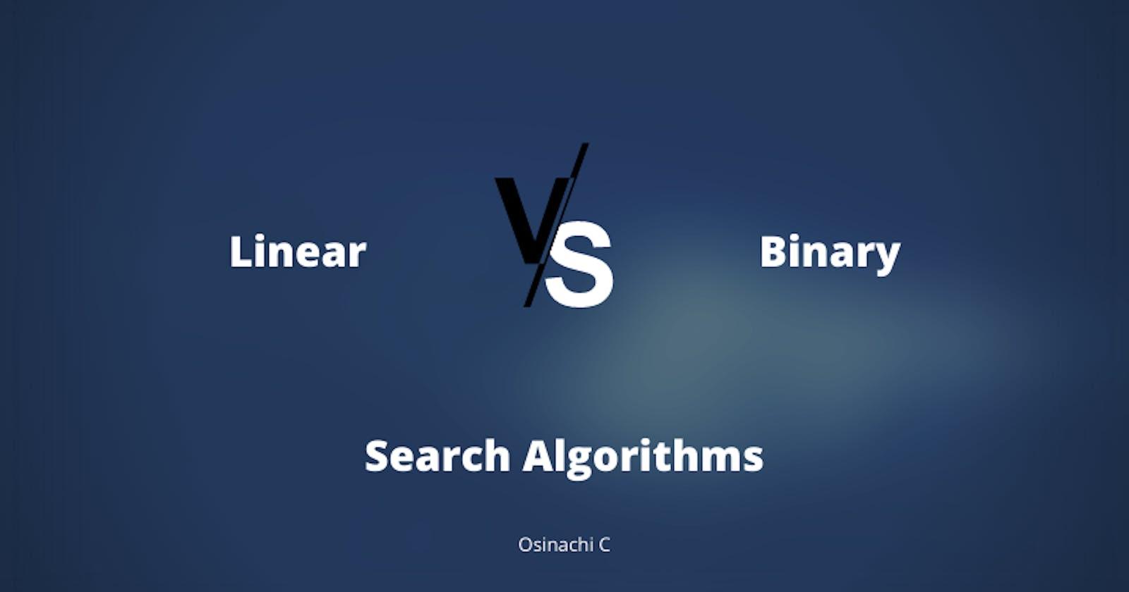Linear vs Binary Search Algorithms
