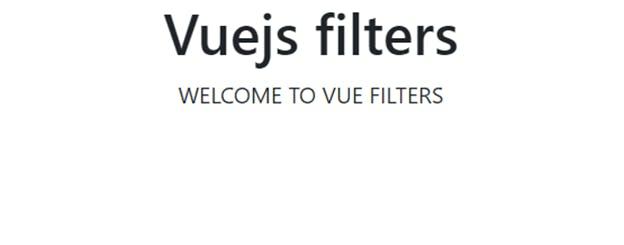 Vue Filter