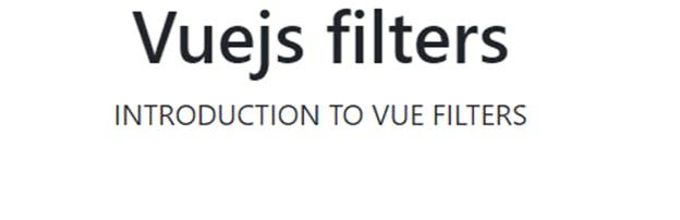 Vue Filters