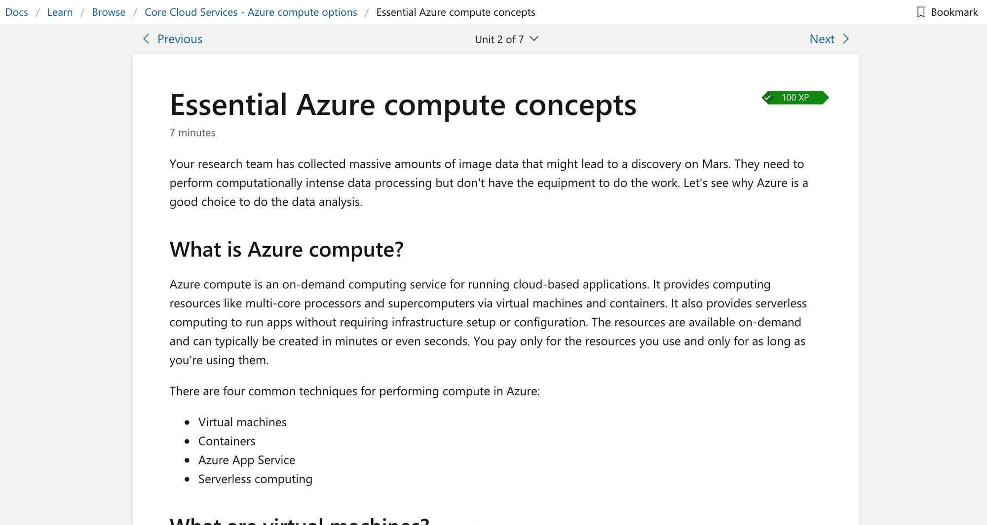 Azure fundamentals learning path