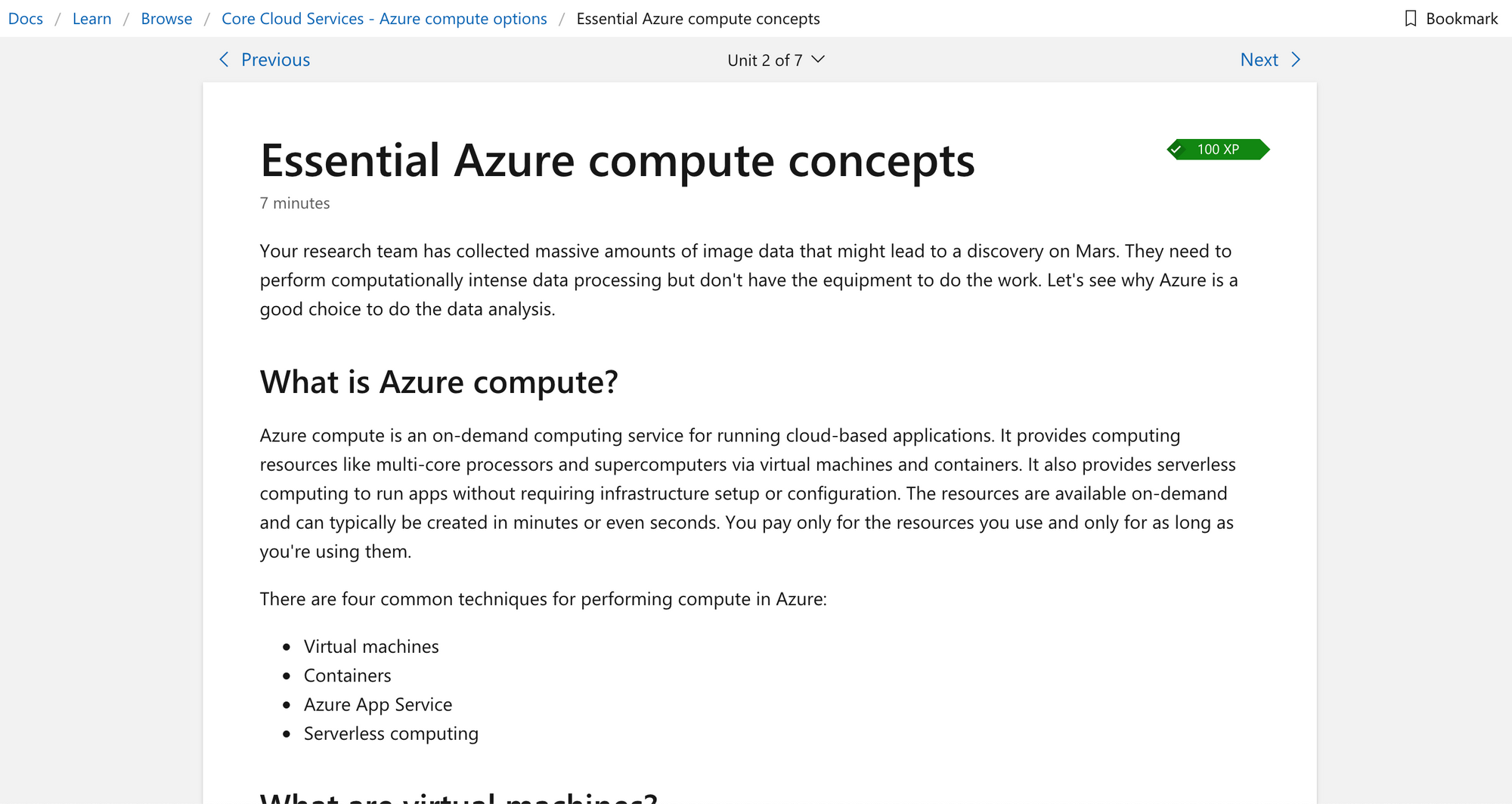 Azure fundamentals learning path