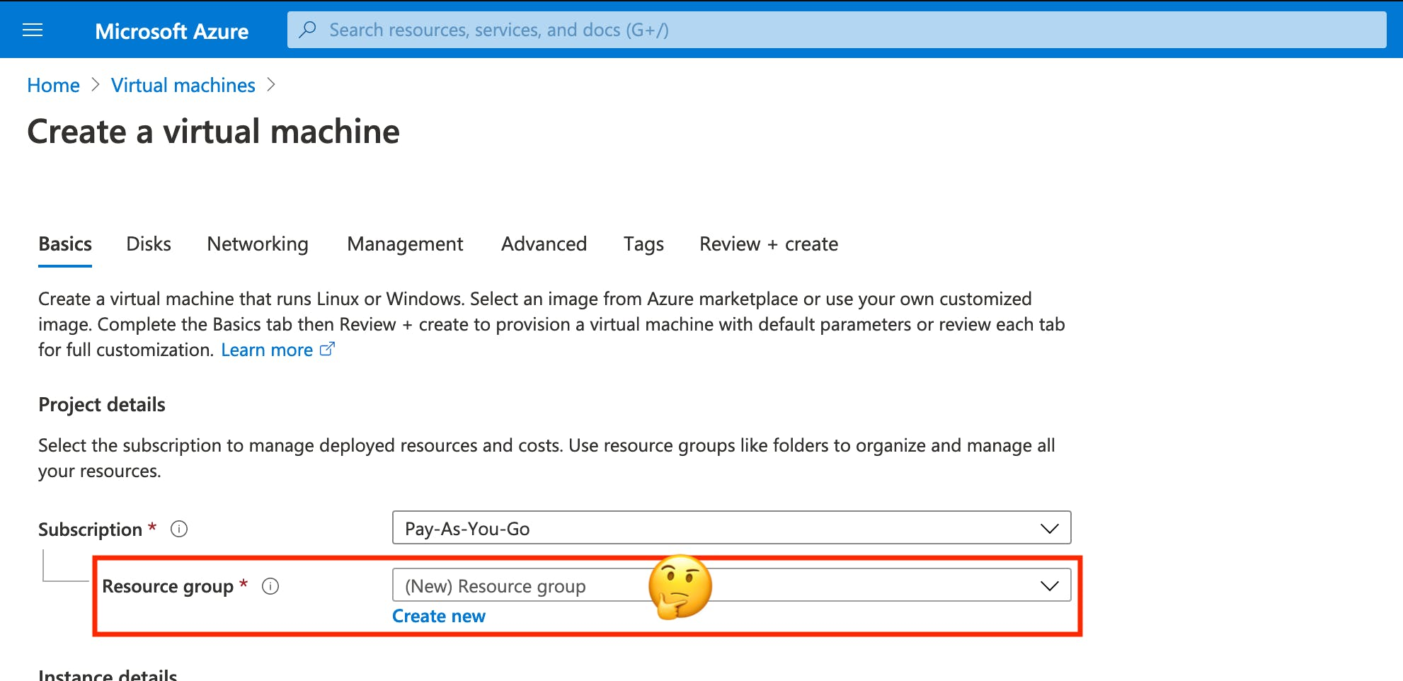 Why do I need a Resource group?
