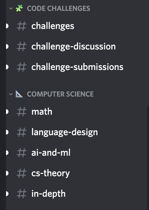 The Programmer's Hangout Channels