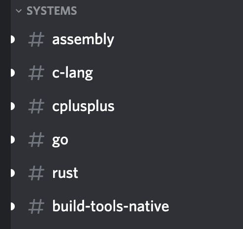 Systems Programming Discord Channels