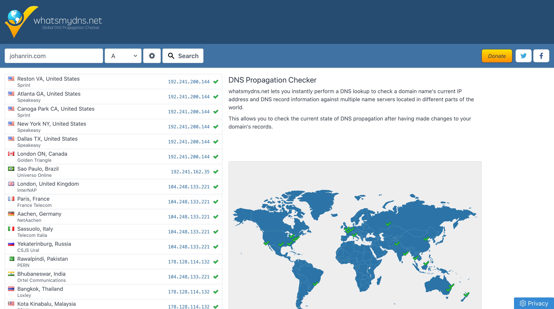 DNS Propagation Checker