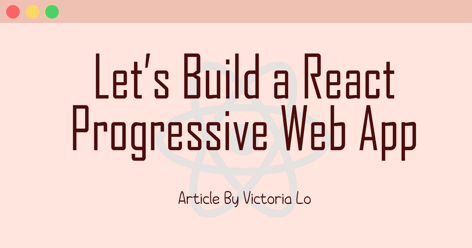 Let's Build A React Progressive Web App (ft. T-API)