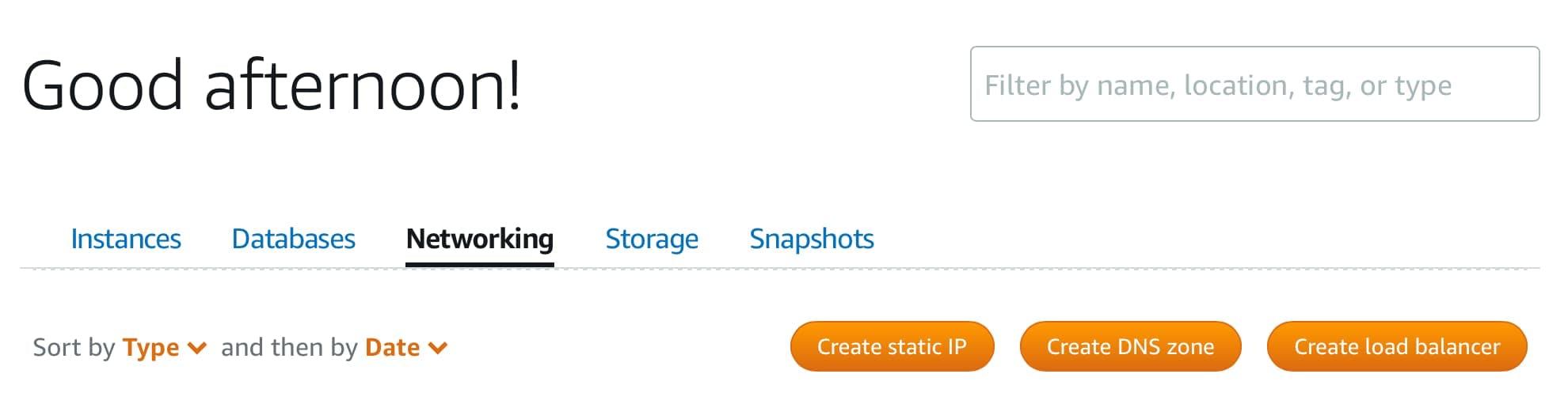 Amazon Lightsail create static IP