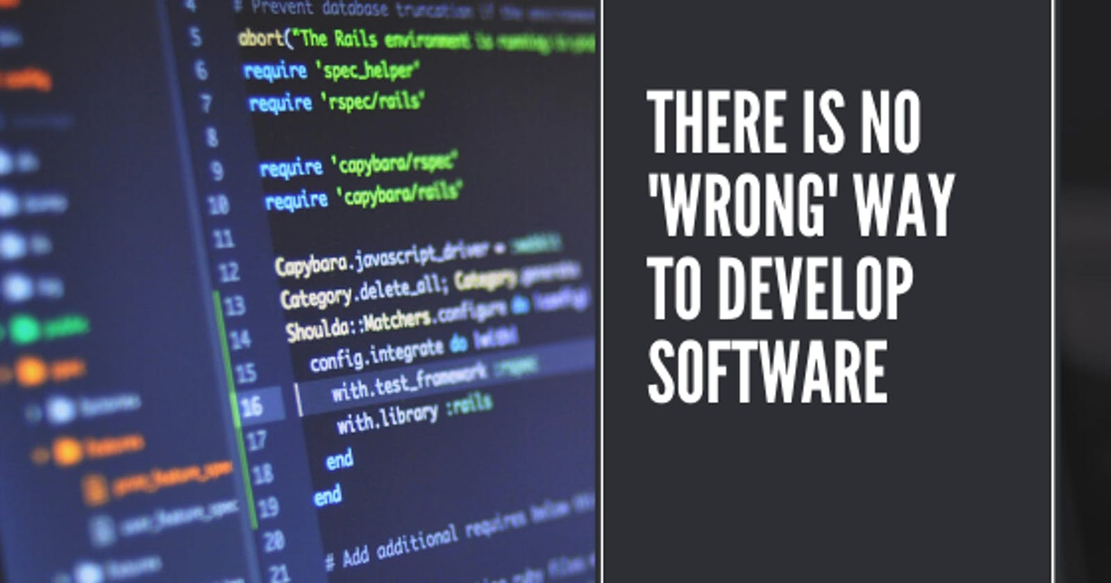 There is no 'wrong' way to develop software | Amoenus Dev