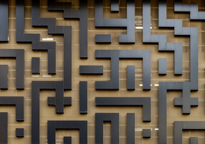 Maze. Used as a visual aid to show complicated application
