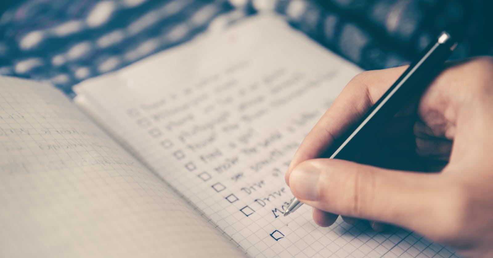 Object Design Checklist