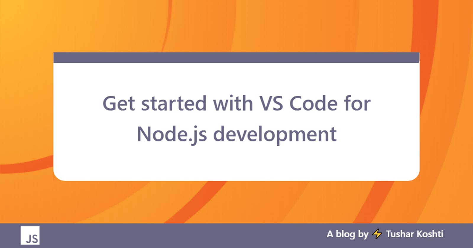 Get started with VS Code for Node.js development