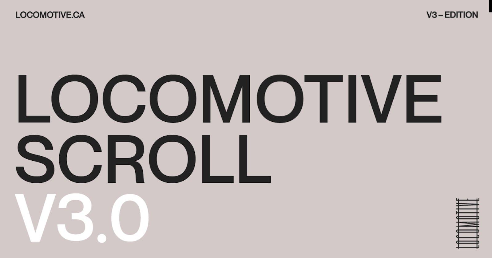 Intro to Locomotive Scroll