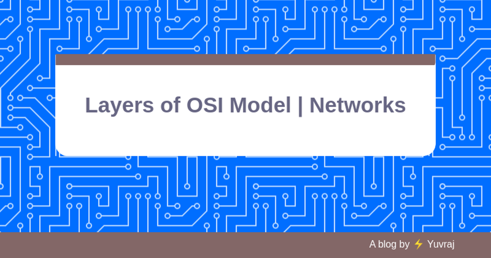 OSI Model Layers and Their Functions   Networks