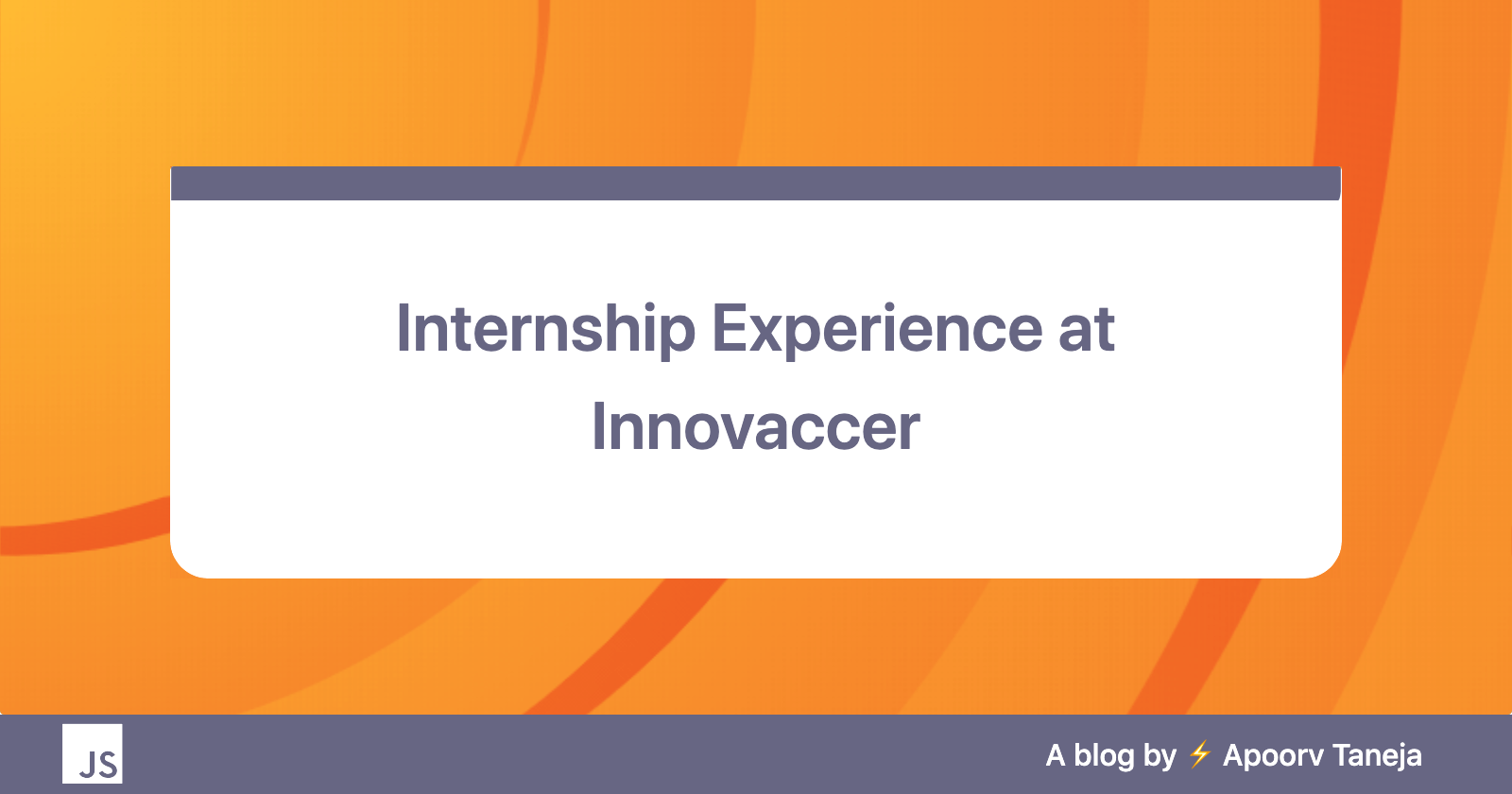 From getting an Internship to Full-time offer at Innovaccer