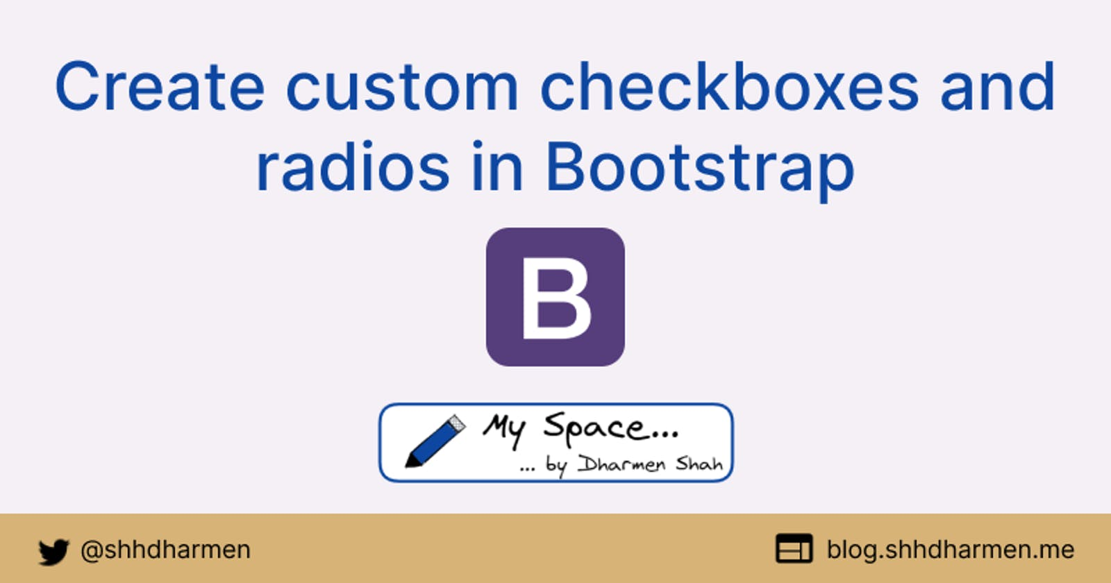 Create custom checkboxes and radios in Bootstrap