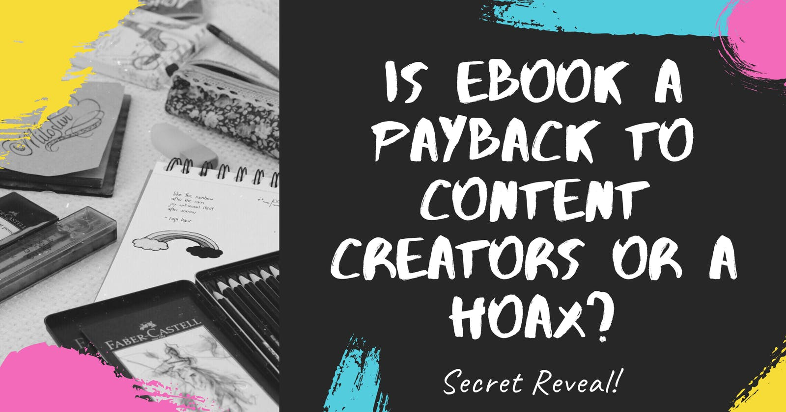 Is eBook a payback to content creators or a hoax?