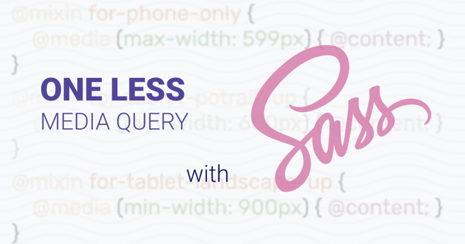 One Less Media Query with SCSS