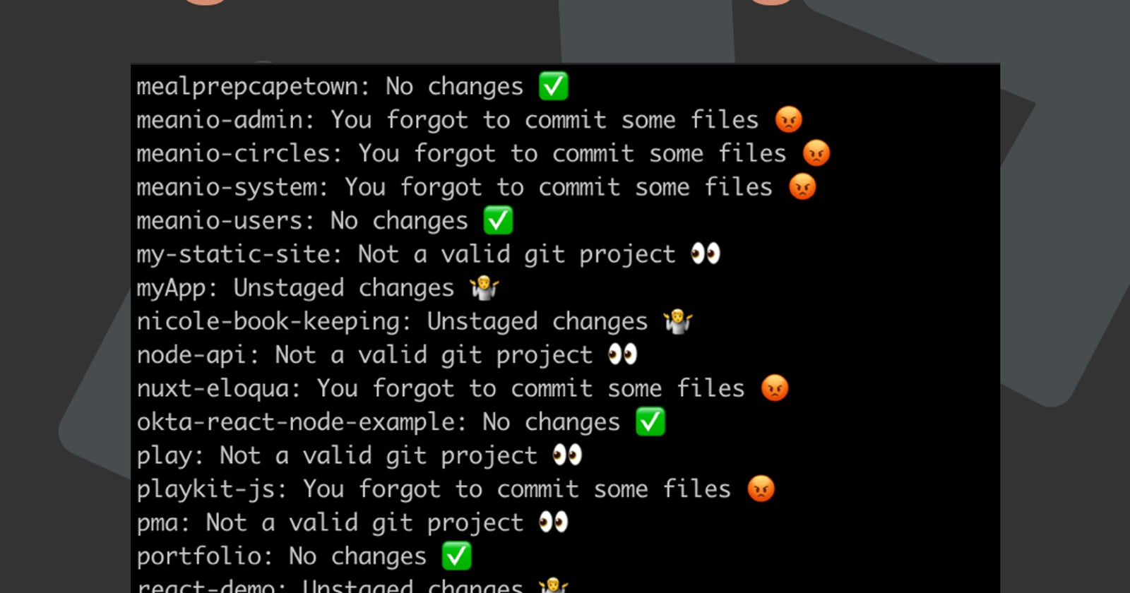 Bash ~ never forget to git commit again 💥