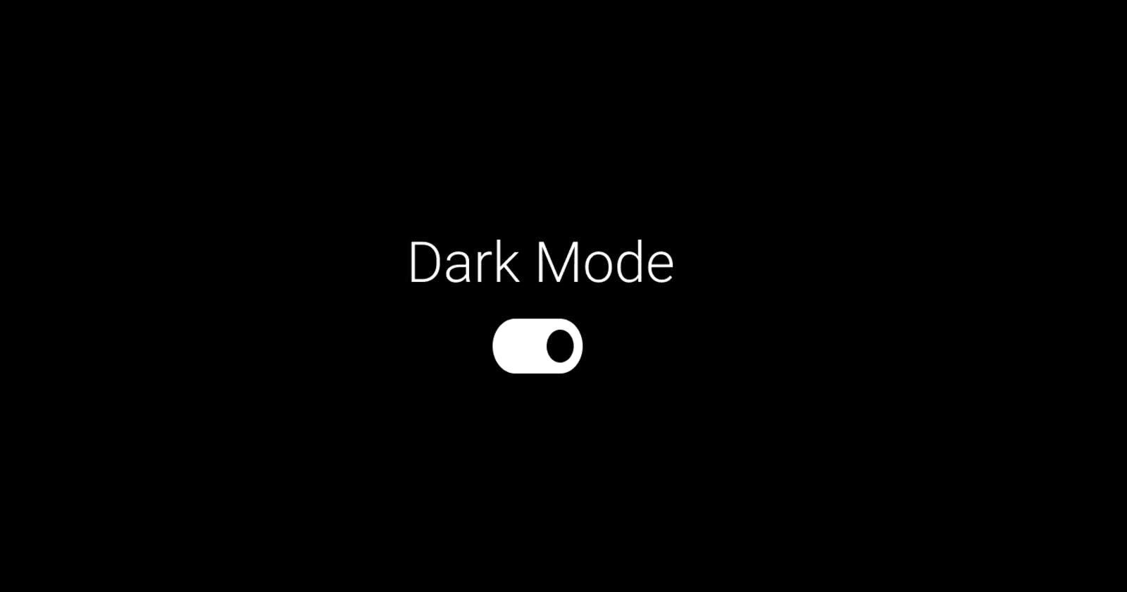 Ways websites implement dark mode