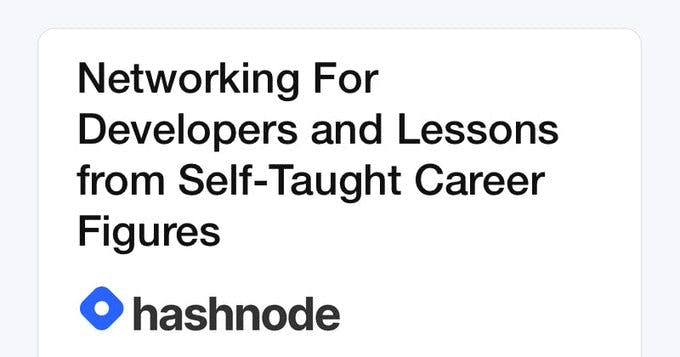 Networking For Developers and Lessons from Self-Taught Career Figures
