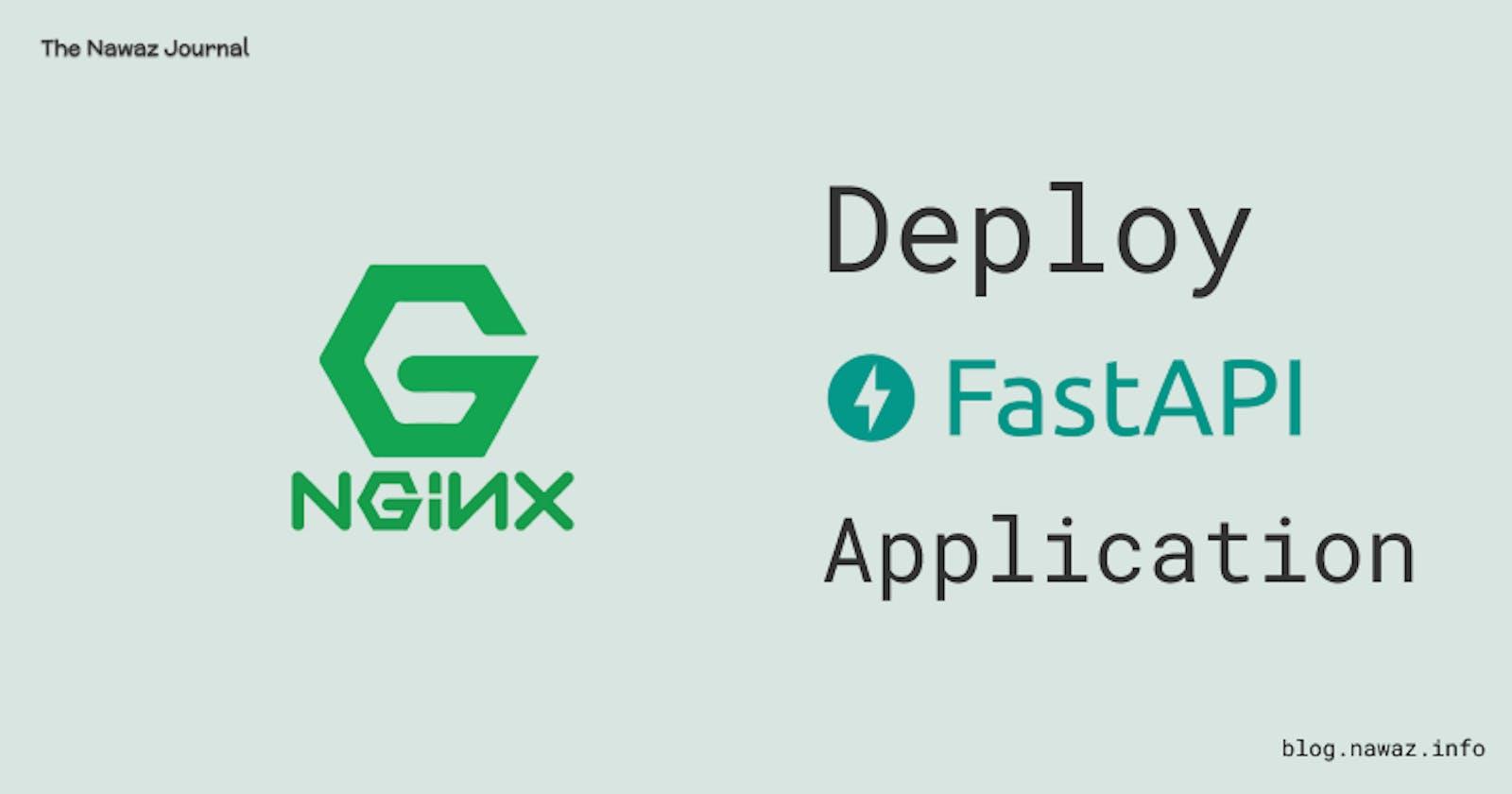 Deploy FastAPI Application on Ubuntu with Nginx, Gunicorn and Uvicorn