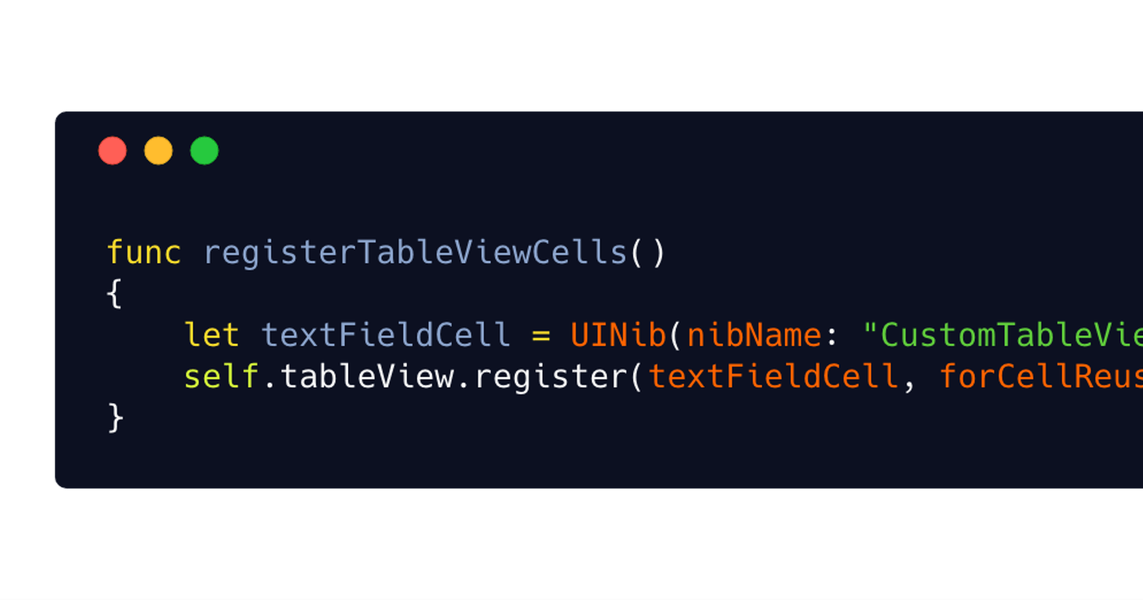 iOS UITableViewCell / UICollectionViewCell registering and resuing—Using Swift protocol &…