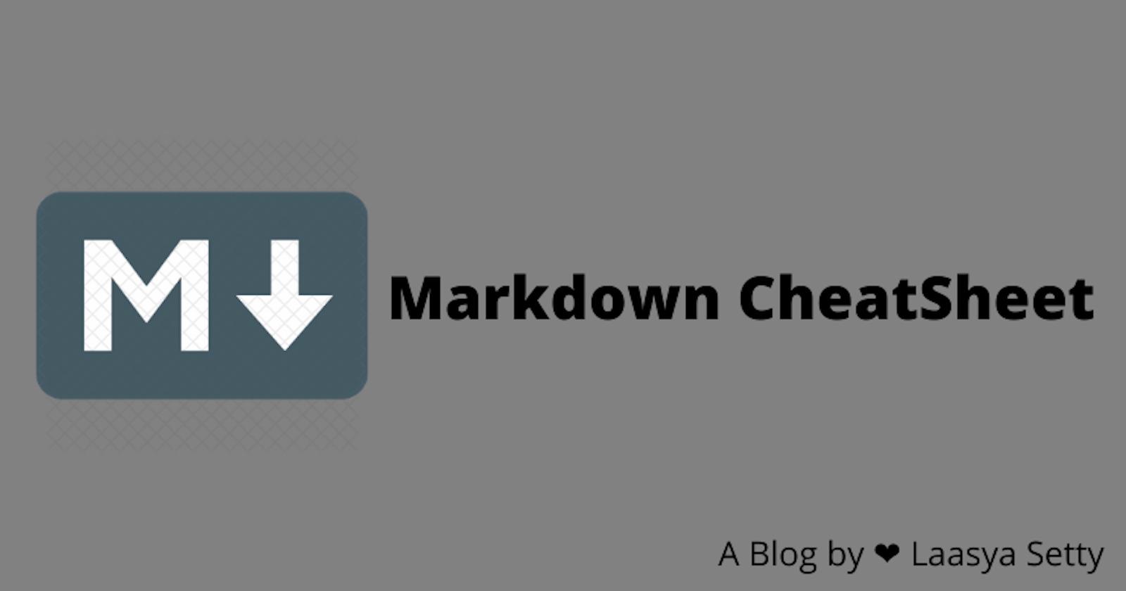 Markdown Cheatsheet to Write a Stunning Article