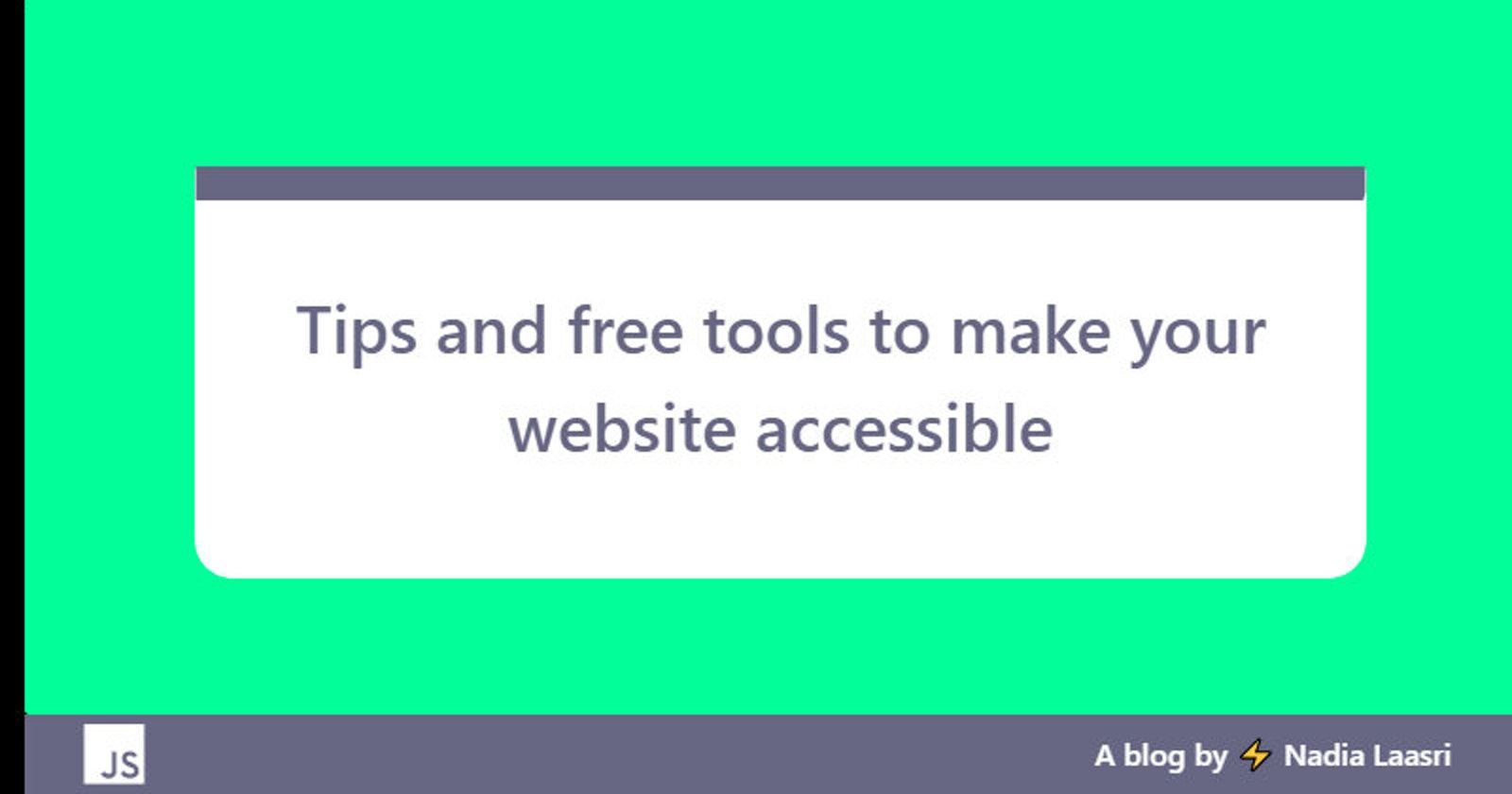 Tips and free tools to make your website accessible
