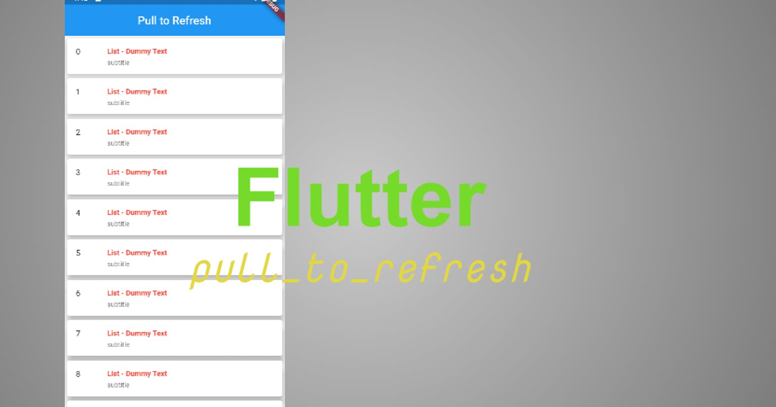 How to implement Pull to refresh in Flutter