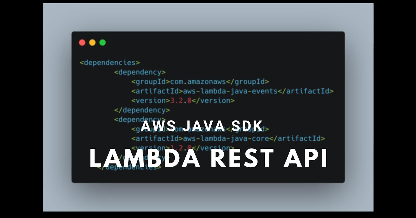 REST API using AWS Java SDK
