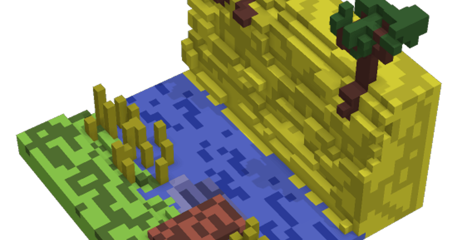 Generation and Render of 2D Map with Terrain in Dart + Flutter. Adding Lakes. Part 3