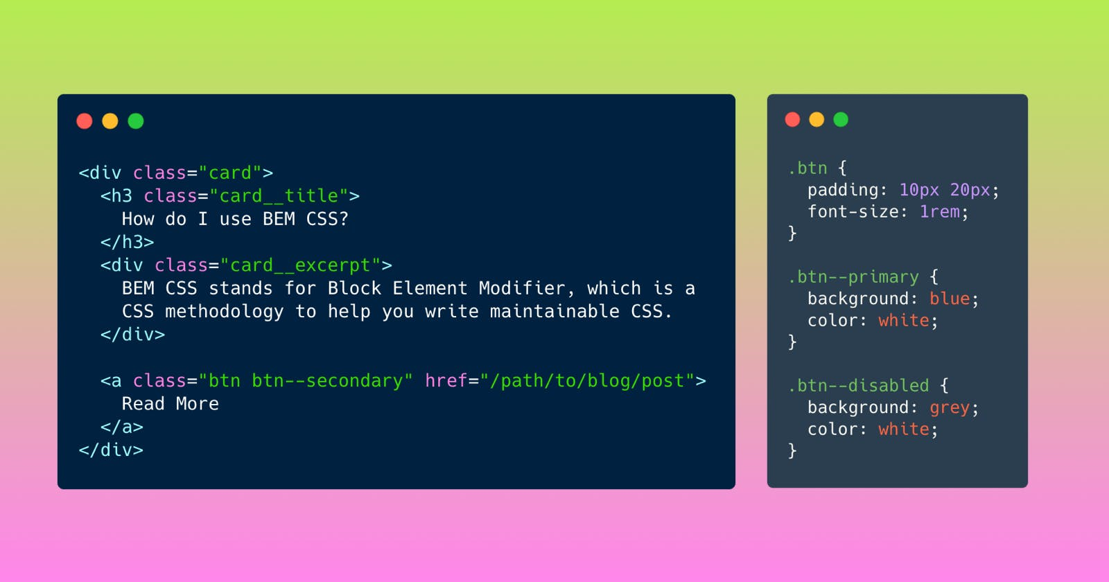 Use BEM for scalable and maintainable CSS
