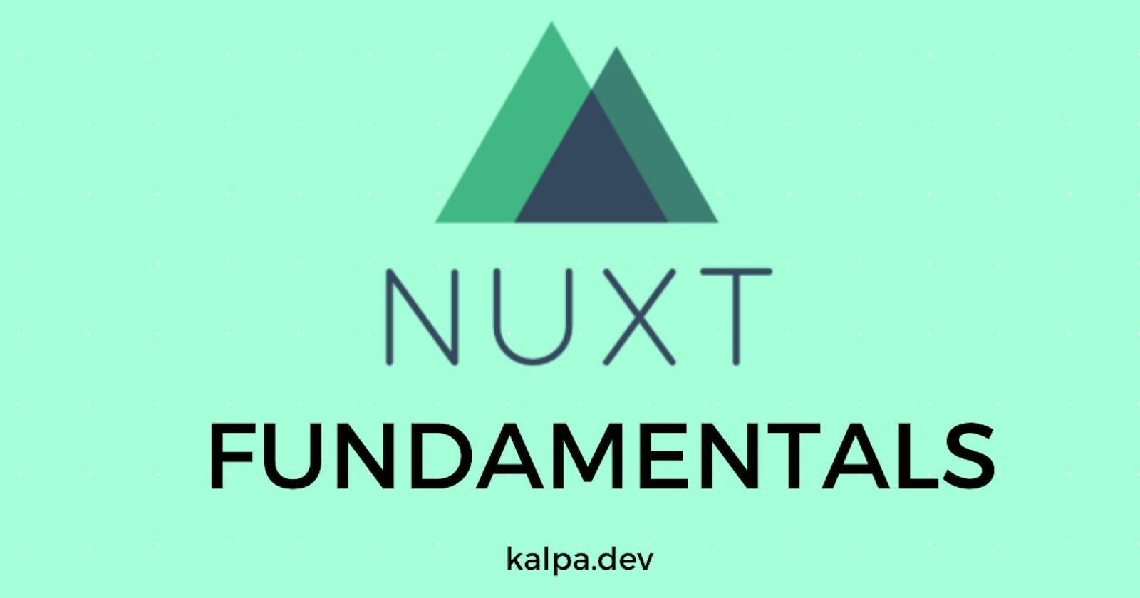 Nuxtjs Fundamentals: Introduction