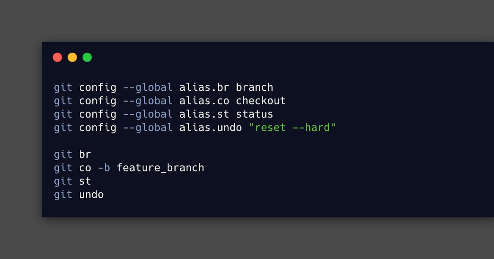 How to Configure Git Aliases