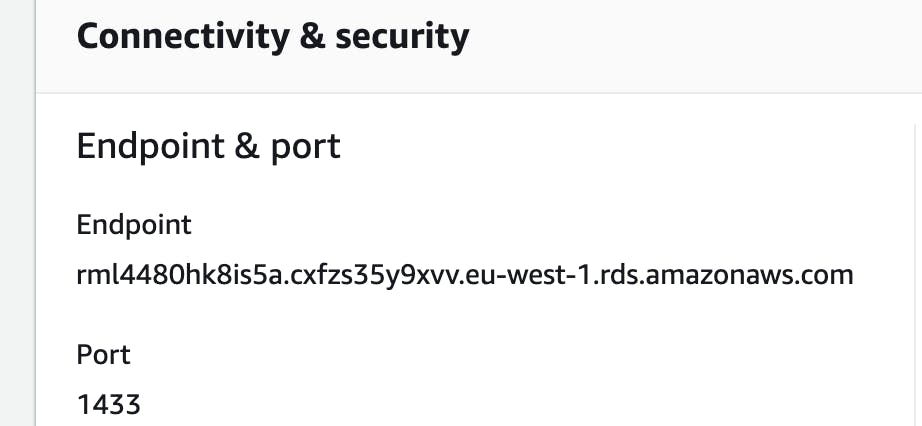 rds endpoint