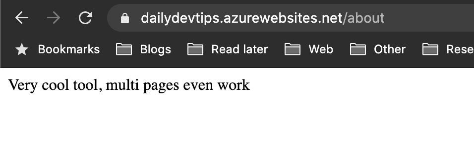 Azure Multi Pages