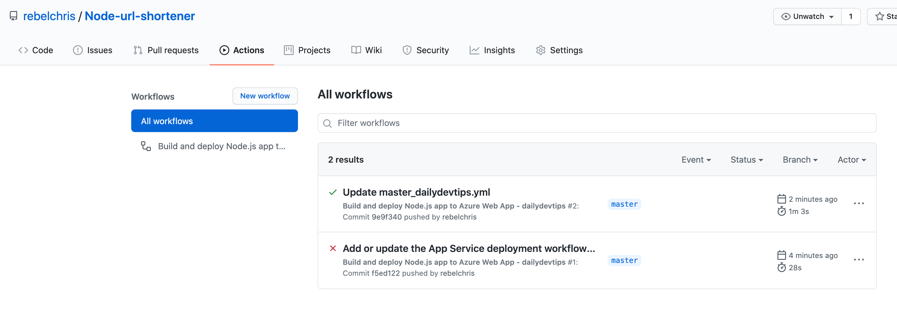 Successful Workflow