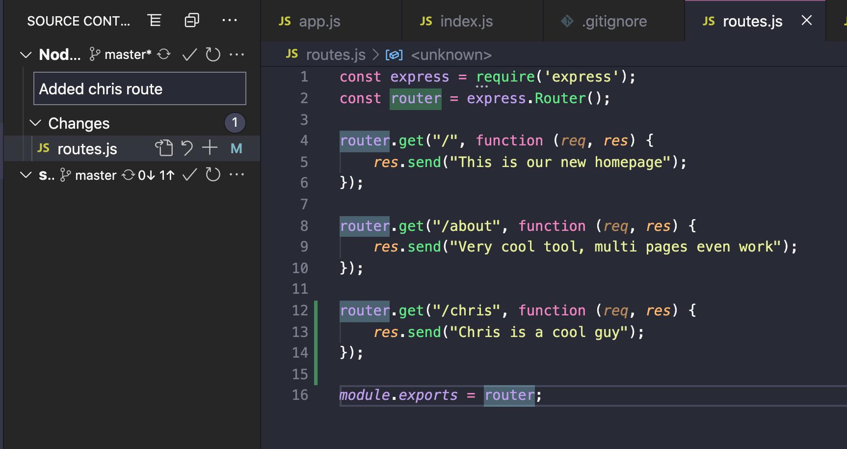 Change code in Visual Studio Code