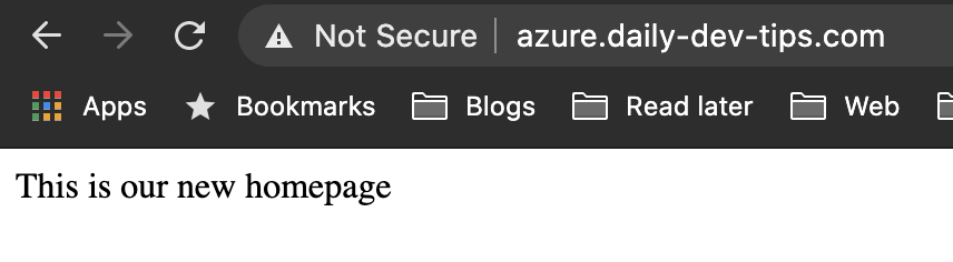 Azure custom domain
