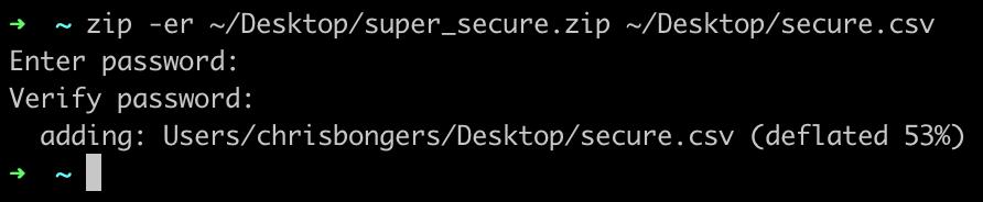 Secure-zip on Mac