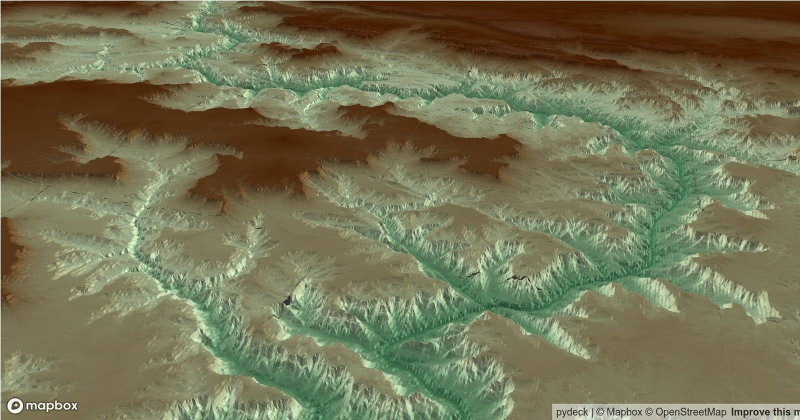 Earth Engine Tutorial #37: How to use Earth Engine with pydeck for 3D terrain visualization