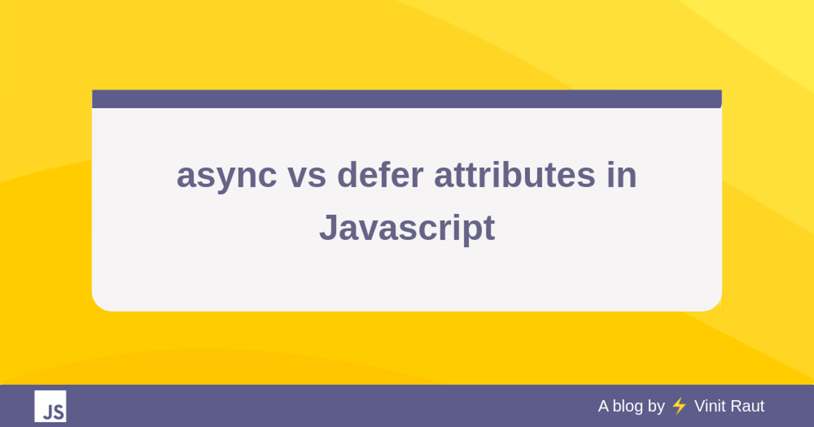 async vs defer attributes in Javascript