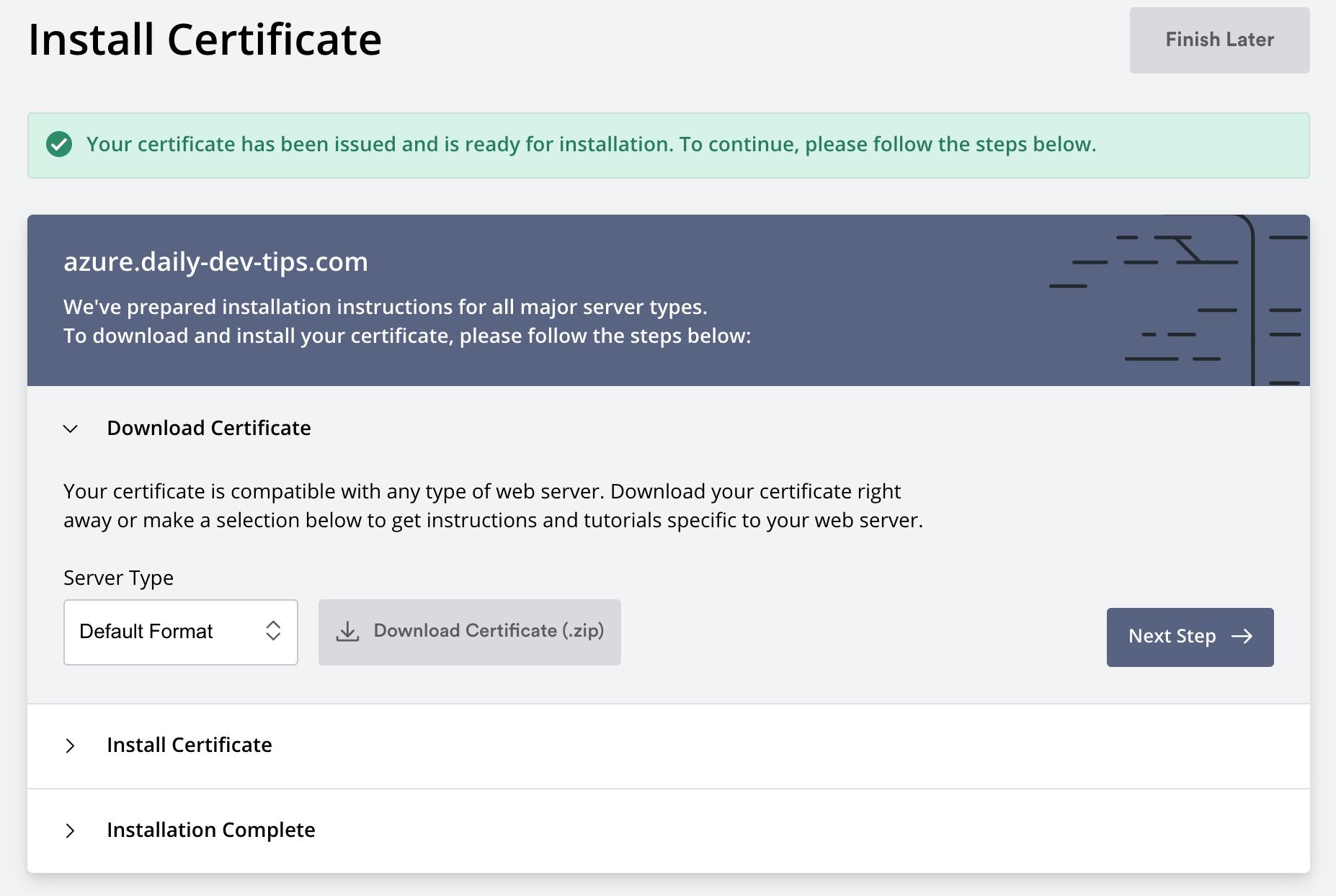 ZeroSSL Download SSL Certificate