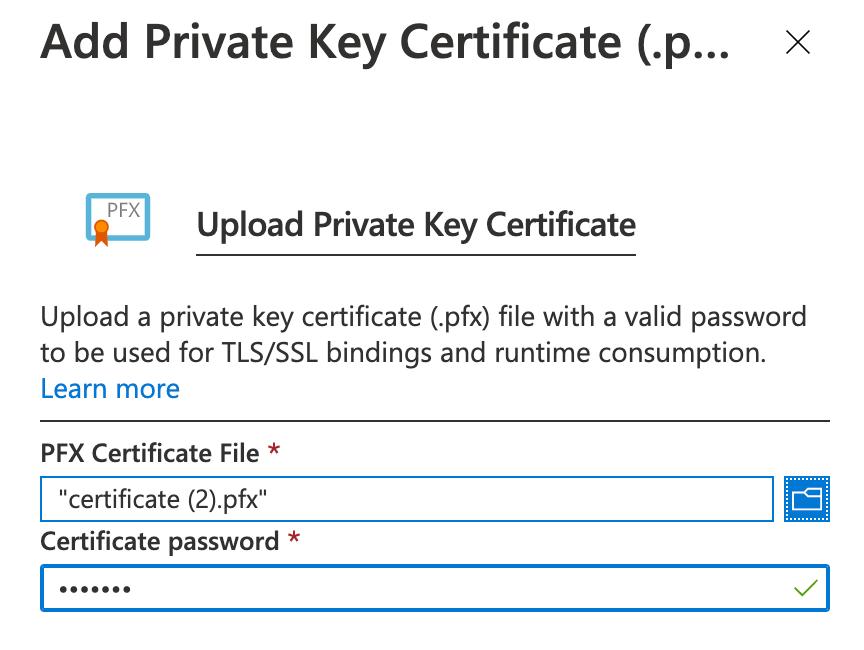 Azure SSL PFX