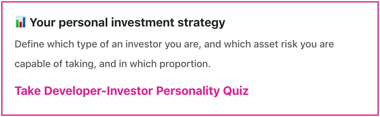 Investor Personality Quiz