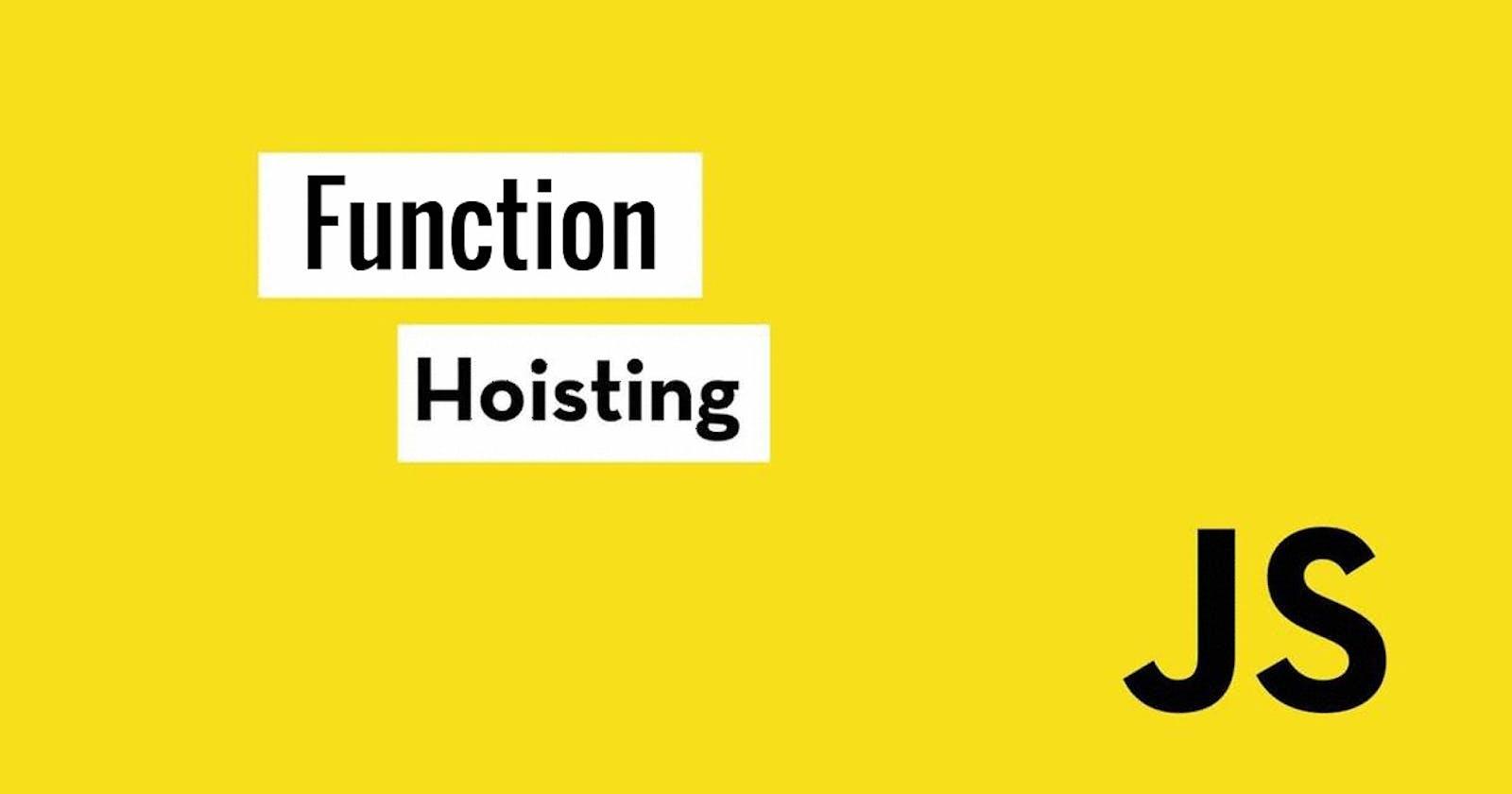 Function Hoisting in Javascript