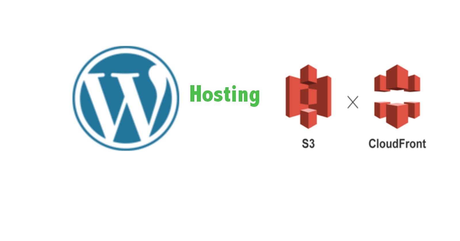 Host WordPress site on AWS S3 bucket