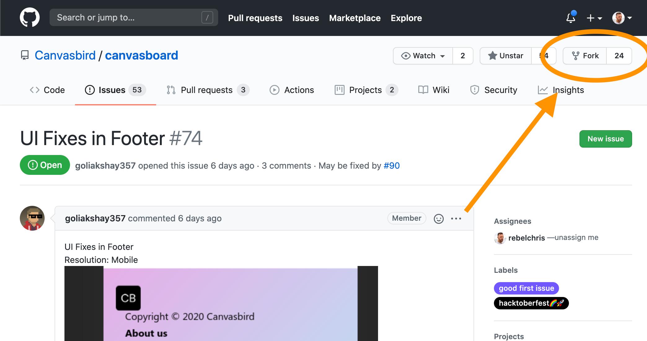 Fork GitHub project