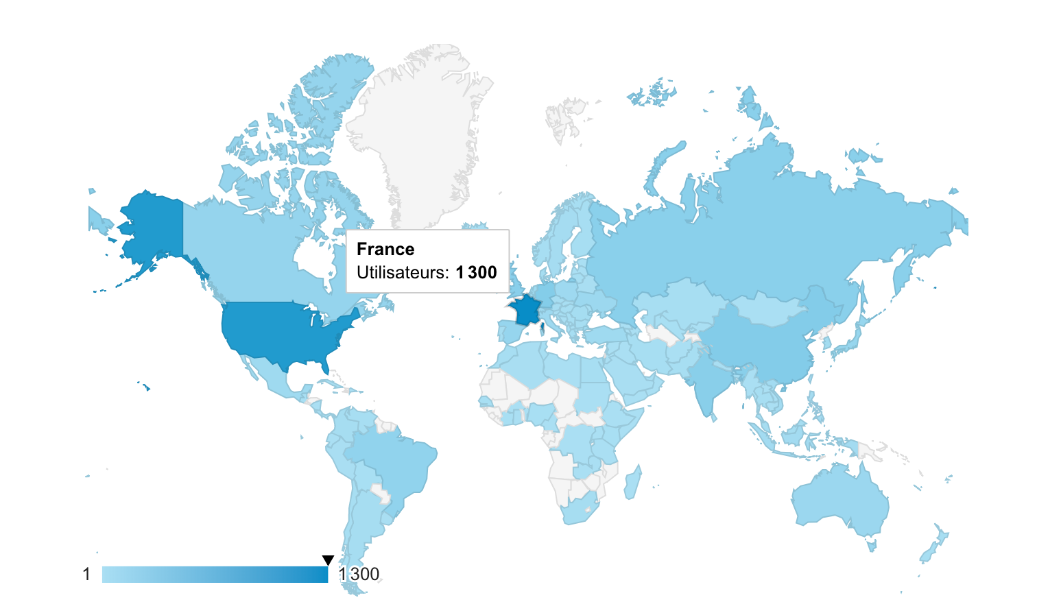 Map of the users of Code Notes in the world