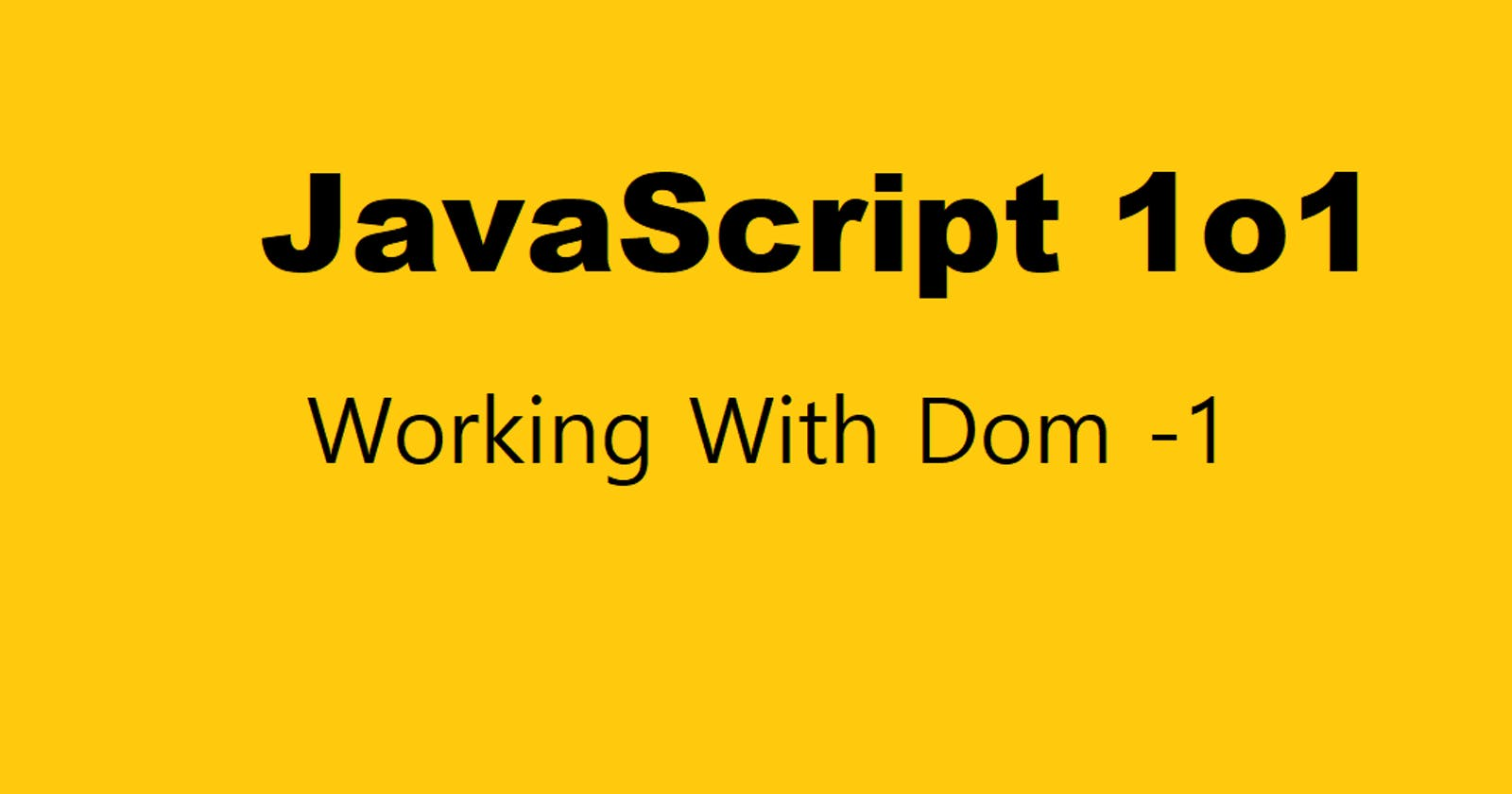 Working with DOM - 1